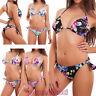 Bikini donna costume da bagno mare fiori triangolo brasiliana sexy nuovo SE88631