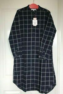 Uniqlo BNWT Ines de la Fressange  Cotton Flannel Shirt  Dress  size L /14