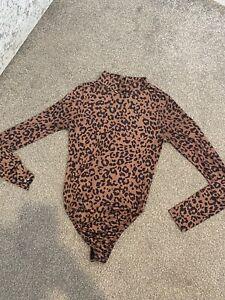 MISSPAP Leopard Print Bodysuit Size 8