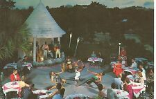 Authentic Bermuda Fire Dancers-Conga Drummer-Band Postcard 1950s