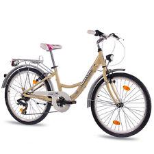 "Cityrad 24"" Zoll ALU City Bike Mädchen Fahrrad CHRISSON RELAXIA mit 7G ivo coast"