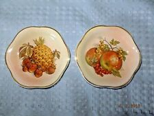 Royal Worcester Company Pair of Miniature Plates Fruit Theme