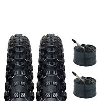 "Zol Bundle 2 Pack Z1221 MTB Tires and Tube 29x2.10"", Presta/French 48 MM Valve"