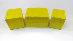 INVICTA Authentic Yellow Watch Box Storage Case Presentation Display