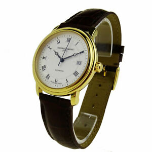 FREDERIQUE CONSTANT AUTOMATIC GOLD PLATED STAINLESS STEEL WRISTWATCH