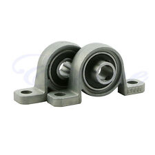 2X Zinc Alloy Diameter Bore Ball Bearing Pillow Block Mounted Support KP000 10mm