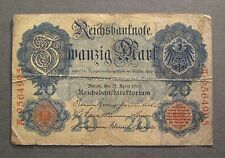 1910 Germany 20 Mark Reichsbanknote - * No Reserve * - (S773)