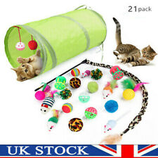 More details for 21pcs pet tunnel cat play kitten stick mouse cats stick ball toys bulk funny toy