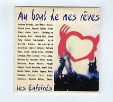 CD SINGLE PROMO LES ENFOIRES AU BOUT DE MES REVES GOLDMAN OBISPO BRUEL