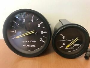 New Honda Marine Outboard Analogue Tachometer, Trim Gauge Meter OEM + Harness