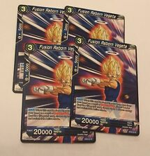 Dragon Ball Super 4 x Fusion Reborn Vegeta SD6-02 ST Mint