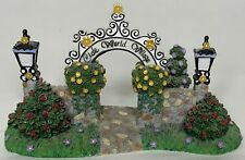 Partylite Olde World Village Entry Sign Retired Collectable Bench Set