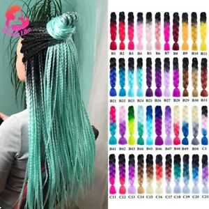High Quality 24 inch Ombre Jumbo Braid Synthetic Braiding Hair Multi Color