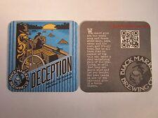 Beer Coaster ~ BLACK MARKET Brewing Deception Blonde Ale ~ Temecula, CALIFORNIA