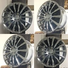 "NEW 20"" S550 AMG STYLE CHROME STAGGERED WHEELS RIMS FITS MERCEDES BENZ  SET OF 4"