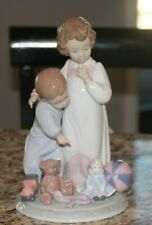 Lladro 06674  Thank You Santa  Boy (Little Brother) & Girl (Big Sister) &  Toys