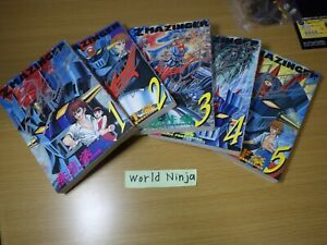 Z MAZINGER Manga Comic Complete Set 1 - 5 GO NAGAI & Dynamic Pro Book KO Japan