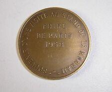 MEDAILLE FOIRE DE PARIS 1958
