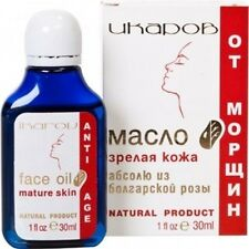 Natural Anti Age Anti Wrinkles Face Oil Mature Skin Bulgarian Rose 30 ml Ikarov
