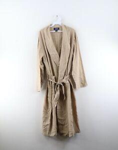 Vintage 90s Nautica Mens Large / XL Striped Belted Cotton Bath Robe Loungewear