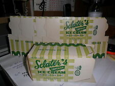 6 VINTAGE NOS OLD FASHIONED SCLATER`S SUPERIOR  ICE CREAM PINT CARTON MARION VA.