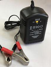 2V 6V or 12V Plug In 600mA Sealed Lead Acid Battery Charger with Crocodile Clips