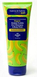 Daniel Galvin Organic Shampoo & Body Wash Kids Skin Care Sensitive Scalp 200ml