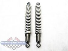 "12.9"" Rear Suspension Unit (Shock absorbers) Genuine Chrome Spring- BSA T120/TR6"