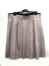 Wool beige A line skirt with pleats size 40 Falda en lana beige  by eurytmhic