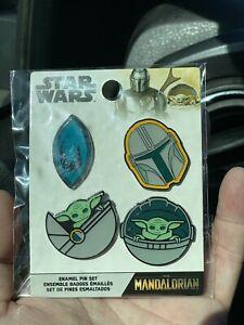 Funko Disney Star Wars Mandalorian Baby Yoda The Child Four Enamel Pin Set