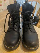 Dr. Martens Lace Up Leather Combat Boots Black Size 6 US Men's 7 Women's 8