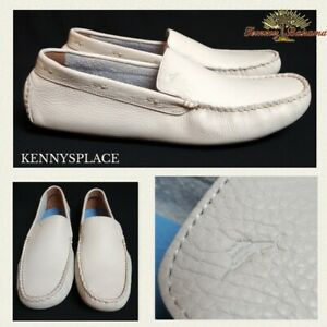 TOMMY BAHAMA Leather Loafers UK13.5 US14 EU47 *NEW STOCK White Pagota