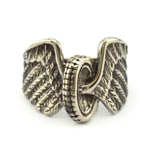 Eagle Wing Round Wheel Ring Stainless Steel Size 8-15