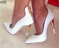 Nachtclub Sexy Damen Spitz Nieten Party Leder Pumps Slip On High Heel Schuhe 42