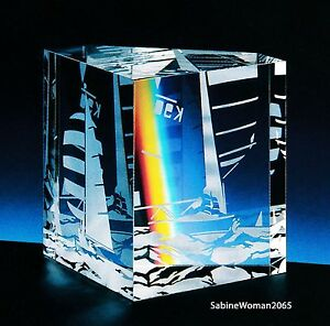 NEW in BOX STEUBEN Glass LARGEST SAILING paperweight sailboat Rolex yacht race