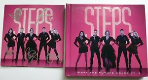STEPS  AUTOGRAPH SIGNED DOUBLE DELUXE CD  (WHAT THE FUTURE HOLDS Pt.2)   COA 55