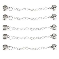 5pcs/Lot Antique Silver Safety Chain Stopper Beads 8cm DIY Bracelet Crafts