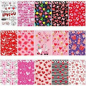 15 Pieces Mini Valentine Day Notepads Sets with 15 Designs Valentine's Day