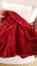 MASSIMO DUTTI women 2018 REVERSIBLE MOUTON FUR COAT RED SPANISH SHEEPSKIN S