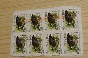 8 Vietnam Asia postage stamps philately philatelic kiloware postal mail