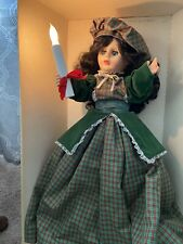 Christmas Animated motion Little People Display Art CAROLER TELCO Victorian Doll