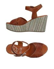 RRP €125 OROSCURO Leather Slingback Sandals EU 36 UK 3 US 6 Wedge Made in Italy