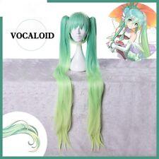 Hot Vocaloid HAKU Cosplay Wig Racing Miku Gradient Clolor Long Hair Wig 120 cm