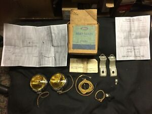 1949,1950 Ford car NOS amber road, driving, fog lamp,light kit, w/ instructions