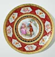 Antique Royal Vienna Beehive mark  Porcelain Cabinet Plate  11.75""