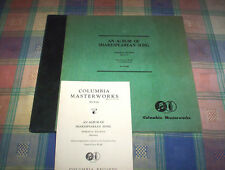 MORDECAI BAUMAN an album of Shakespearean song COLUMBIA MASTERWORKS ( 3 ) 78 set