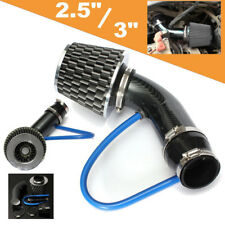 Universal 76mm Carbon Car Cold Air Intake Filter Induction Pipe Hose System