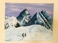 "Original Artwork Mountains Everest Painting 20""x16"""