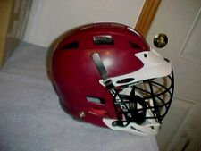 Cascade Cpx Lacrosse Helmet Maroon, Dark Red, White brim, Size Small to Medium
