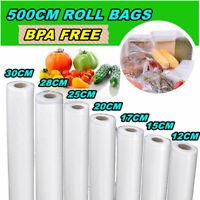 7 Different Size Transparent Vacuum Sealer Bags Rolls Food Saver Seal Storage